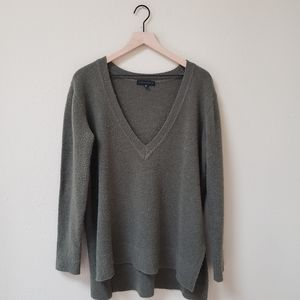 Sanctuary - Green Oversized V Neck Sweater